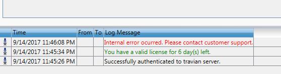 travian bot error detected