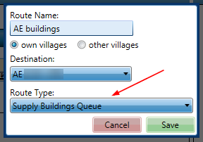 Adding Supply Buildings Queue Route