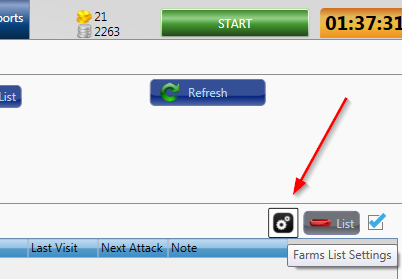 Farm List Settings Button