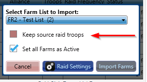 Gold Club keep source raid troops
